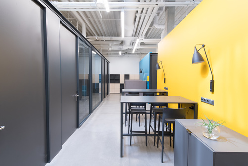 Working space in contemporary new office